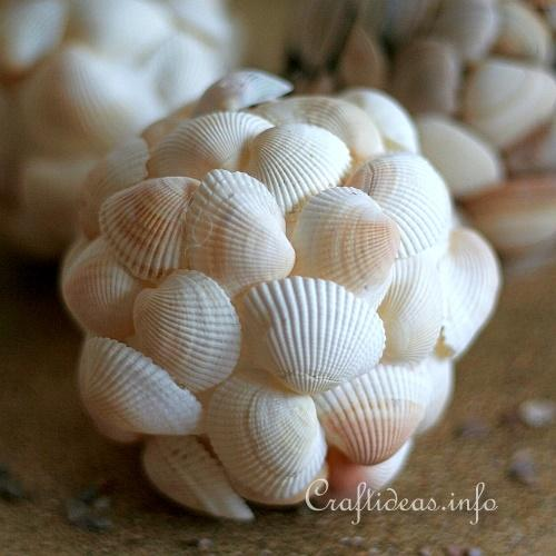 Summer Craft Crafting With Seashells Seashell Balls