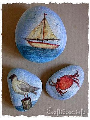 Summer Craft Decoupage Using Paper Napkins Maritime