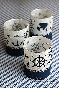 Maritime Tea Light Glasses by Day