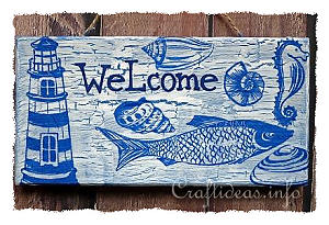 Maritime Welcome Sign