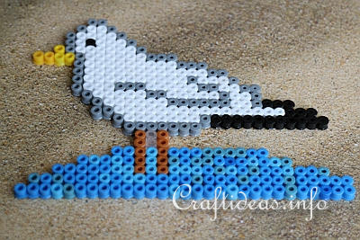 Melting Beads or Fuse Beads Gull 2