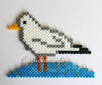 Melting Beads or Fuse Beads Gull