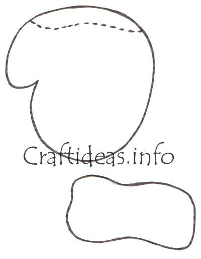 Snowman Mittens Template Mitten pattern 2