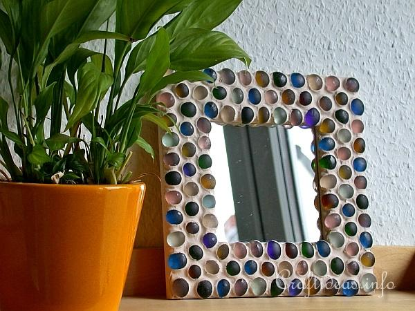 Free summer craft mosaic mirror for Glass and mirror craft