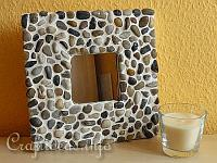 Mosaic Mirror with Pebbles