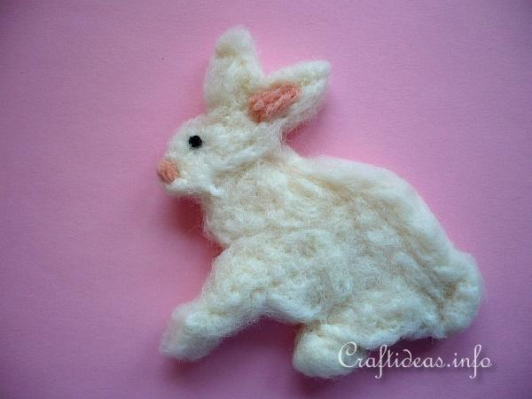 Needle Felted Easter Rabbit