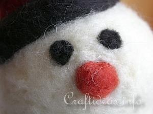 Needle Felted Snowman 7