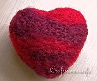 Needle Felted Styorfoam Heart