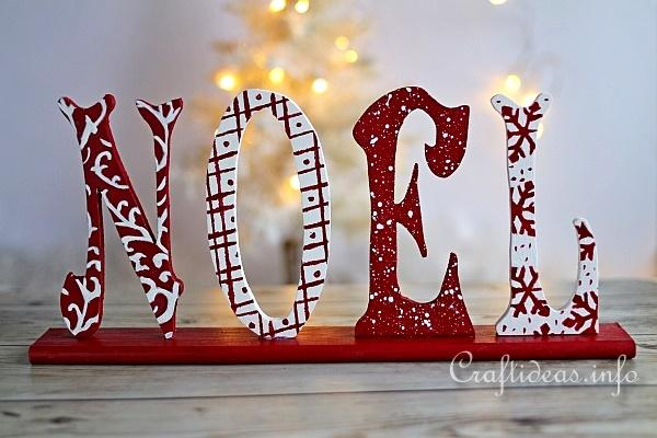 Christmas wood craft wooden noel letters decoration for Decoration sapin de noel americain