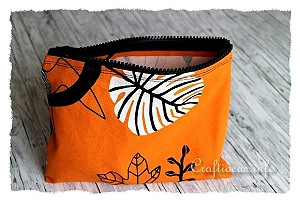 Orange Fabric Purse Organizer
