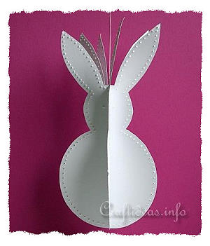 Paper Craft - 3-D Easter Bunny Craft