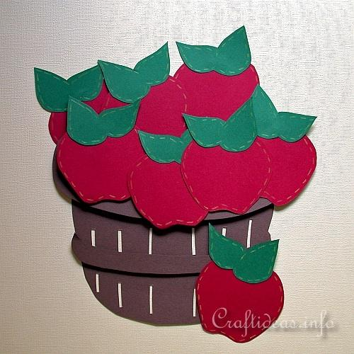 Free Paper Craft Ideas Fall And Halloween Paper Pieced Apple