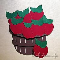 Paper Craft - Apple Basket Wall Decoration