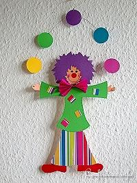 Paper Craft - Crafts for Kids - Paper Clown Decoration
