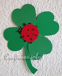 Paper Craft - Lady Bug on a Four Leaf Clover