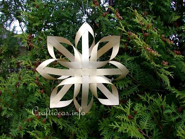 Paper Craft for Christmas - Gold Finnish Star