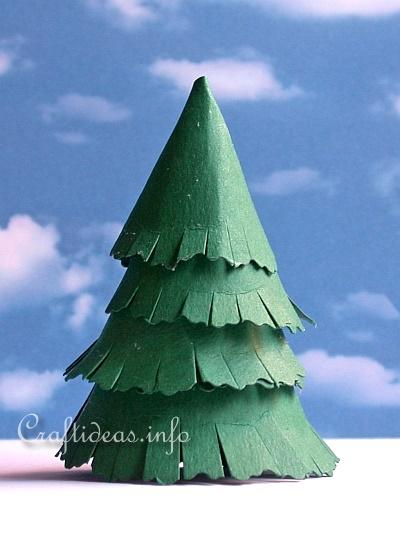 Paper Craft for Christmas - Paper Christmas Tree Craft