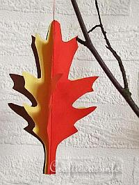 Paper Craft for Fall - 3-D Paper Leaf