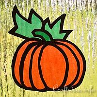 Paper Craft for Fall - Paper Pumpkin Suncatcher 200