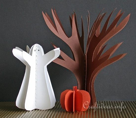 Free Paper Craft Ideas - Fall and Halloween - Easy 3-D Halloween ...