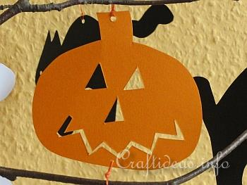 Paper Craft for Halloween - Halloween Cat, Pumpkin and Ghost Paper Figures - Jack o'Lantern