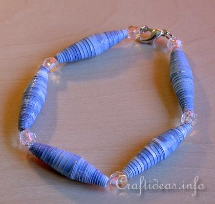 Free papercrafts and projects for kids paper beads bracelet for Bead craft ideas for kids