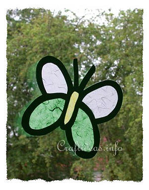 Paper Craft for Spring - Butterfly Window Decoration
