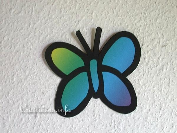 Free Spring And Easter Paper Crafts For Kids Rainbow Paper Butterfly