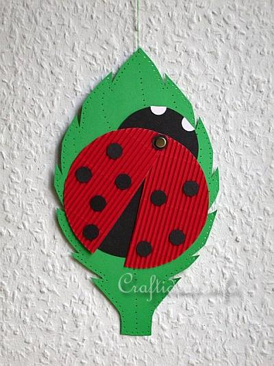 Free Spring And Easter Paper Crafts For Kids Paper Lady Bug