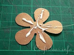 Paper Craft for Spring - Scrapbook Paper Flower Garland - Example