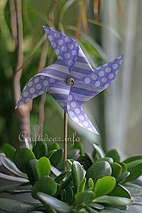 Paper Craft for Spring - Paper Windmill