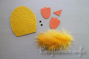 Paper Craft for Spring and Easter - Cute Chick Magnet - Tutorial 1