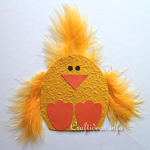 Paper Craft for Spring and Easter - Cute Chick Magnet 2
