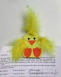 Paper Craft for Spring and Easter - Cute Chick Magnet