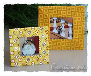 Paper Craft for Summer - Origami Picture Frame Craft for Kids