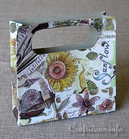 Paper Craft for Summer and All Occasions - Decoupaged Cardboard Tote Bag Project