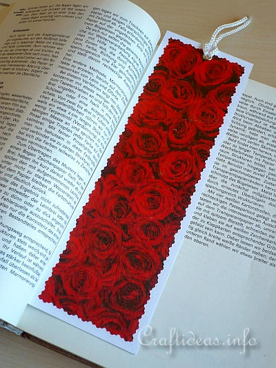 Free Paper Craft Ideas Craft A Red Roses Bookmark