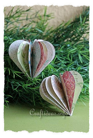 Paper Craft for Valentine's Day - 3-D Paper Heart Decoration