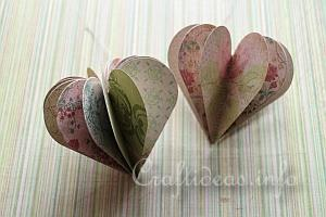 Paper Craft for Valentine's Day - 3-D Paper Heart Decoration 4