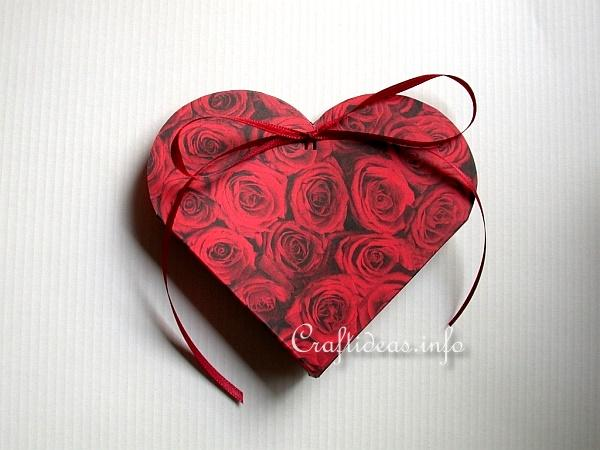 Valentine S Day Paper Craft How To Make A Heart Gift Box