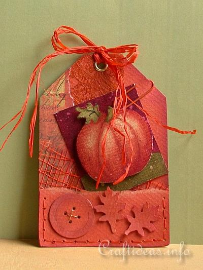 Paper Crafts - Tags - Fall Pumpkin Tag