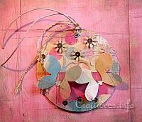 Paper Crafts - Tags - Round Butterflies Tag