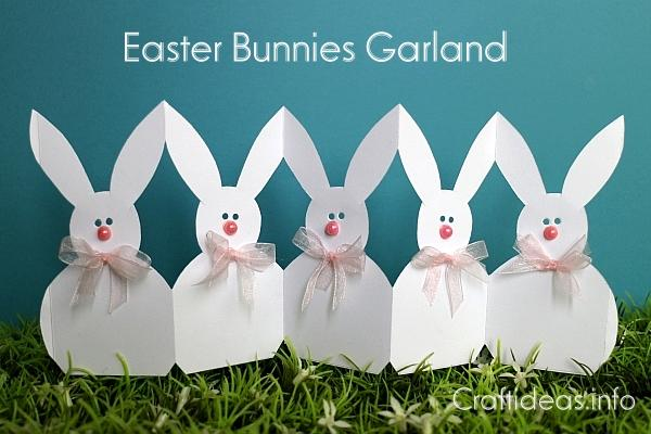 Paper Easter Bunnies Garland