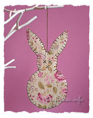 Paper Easter Bunny Ornament