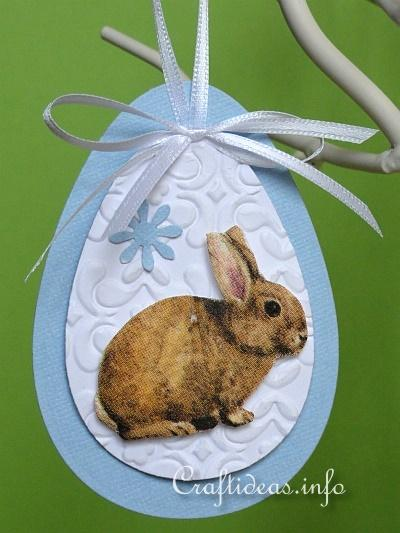 Paper Easter Egg and Bunny Ornaments - Detail 2