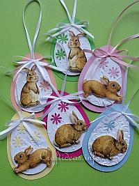 Paper Easter Egg and Bunny Ornaments