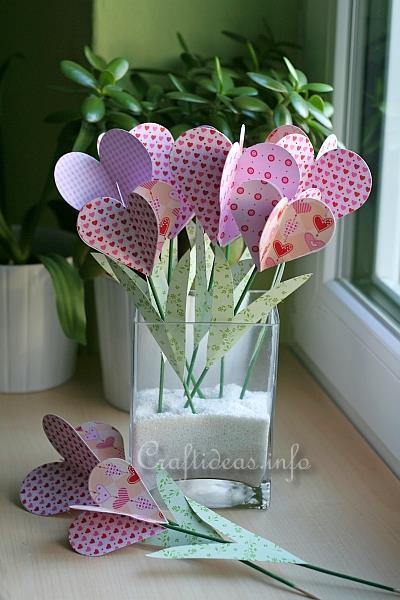 Paper Craft Decoration For Valentines Day Or Mothers Day Paper