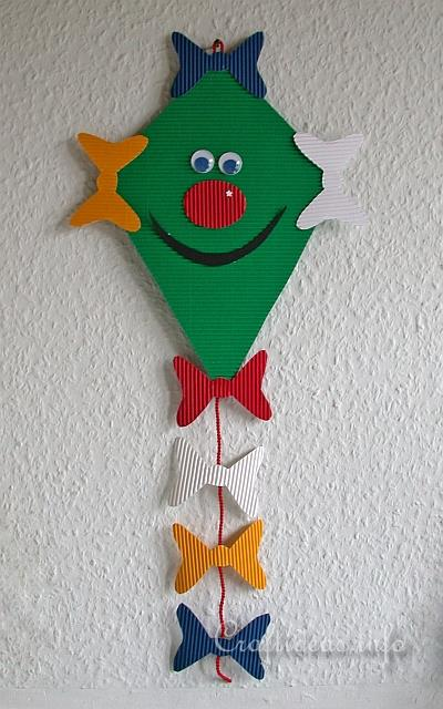 Free Fall Paper Craft For Kids Friendly Kite Decoration