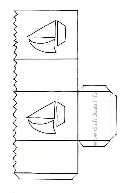 Summer Paper Craft - Sailboat Lantern for Tea Lights