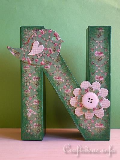 Summer paper crafts embellished paper mach letters for Paper mache craft ideas
